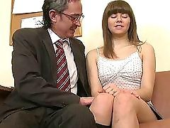 Kinky banging with youthful lady