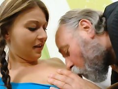 Infatuating young doll gets likes fuckfest with old plower