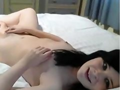 masturbating youthfull brunette