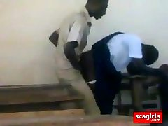 teenie african students shagging doggstyle in class