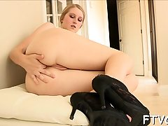 2 lesbos disrobe and begin caressing every other