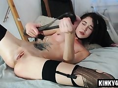 Warm adult movie star spanking and cumshot