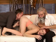 Blowjob party Unexpected practice with an old gentleman