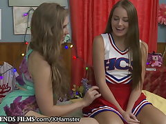 GirlfriendsFilms Lena Paul Guides Shy Cheerleader