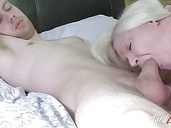 AgedLovE Busty Lacey Starr Gonzo and Blowjob