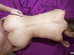 German Youthfull Duo in Unexperienced Pornography with Real Chick Orgasm