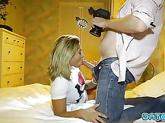 Appointment Slam - Blonde beauty takes load down her throat