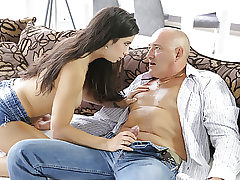 OLD4K. Fabulous hottie rectally stretched in good old and young..