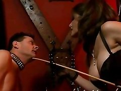 Hot bdsm video with a nasty bitch on high heels getting abused