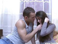 Shy sweetie releases the fuckslut inwards
