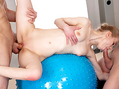 Romp party with yoga teeny